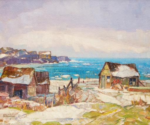 Hal Ross Perrigard Winter on the Atlantic - Fish Houses